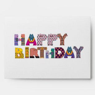 happy birthday envelopes zazzle