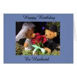 Hand shaped Happy Birthday ex husband card