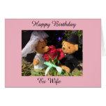 Hand shaped happy birthday ex wife card