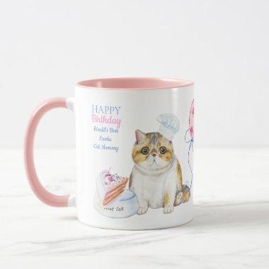 Happy Birthday EXOTIC Cat Mom - Personalized Mug