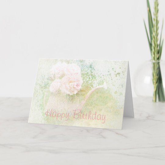 Happy birthday faded textures peony bouquet card zazzle happy birthday faded textures peony bouquet card m4hsunfo