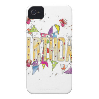 Happy Birthday - Fairies and Bunting Case-Mate iPhone 4 Case