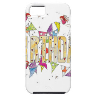 Happy Birthday - Fairies and Bunting iPhone SE/5/5s Case