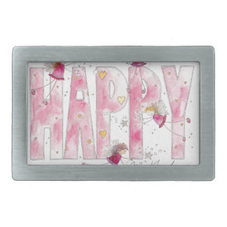 Happy Birthday Fairies Belt Buckle