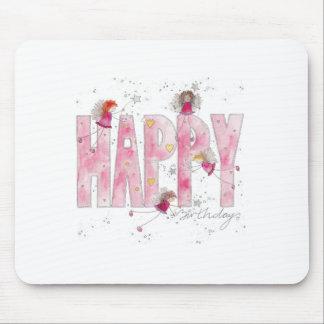 Happy Birthday Fairies Mouse Pad