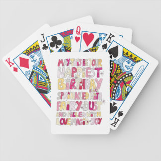 Happy Birthday Fairy Dust Bicycle Playing Cards