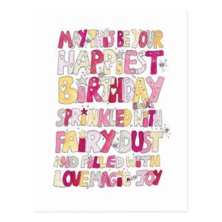 Happy Birthday Fairy Dust Postcard