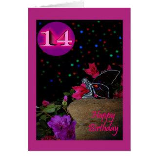 Happy Birthday fairy faerie 14th fourteen 14 Greeting Card