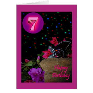Happy Birthday fairy faerie 7th seventh 7 Greeting Card