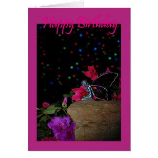 Happy birthday fairy faerie magical fairy dust card