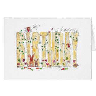 Happy Birthday -Fairy Woodland Card