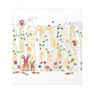 Happy Birthday -Fairy Woodland Notepad