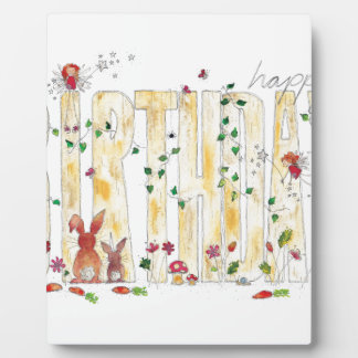 Happy Birthday -Fairy Woodland Plaque
