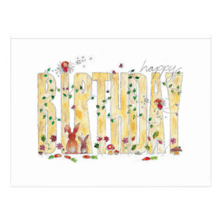 Happy Birthday -Fairy Woodland Postcard