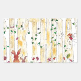 Happy Birthday -Fairy Woodland Rectangular Sticker