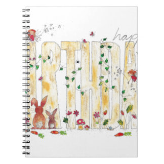 Happy Birthday -Fairy Woodland Spiral Notebook