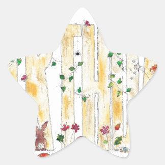 Happy Birthday -Fairy Woodland Star Sticker