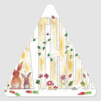Happy Birthday -Fairy Woodland Triangle Sticker