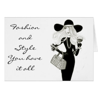 HAPPY BIRTHDAY-FASHIONISTA WITH STYLE CARD