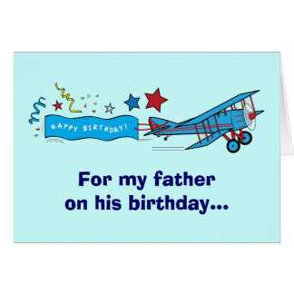 Happy Birthday Father Airplane Card