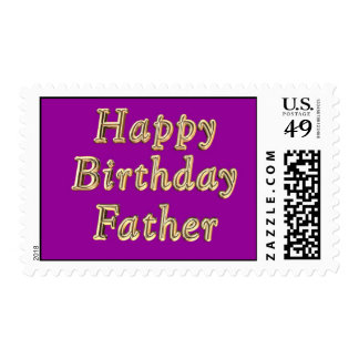 Happy Birthday Father Dad Stamps