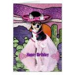 HAPPY BIRTHDAY - Feliz Cumpleaños - CHIHUAHUA Greeting Card