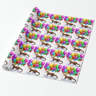Happy Birthday Ferret Gift Wrap
