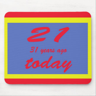 Happy birthday fifty two 52nd mouse pad