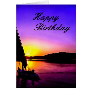 Happy Birthday Fine Art Sailing Card. Card