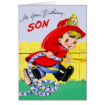 Happy Birthday - Firefighter Son Stationery Note Card