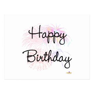 Happy Birthday Firworks Post Cards