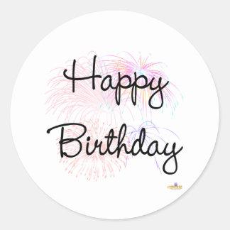 Happy Birthday Firworks Sticker