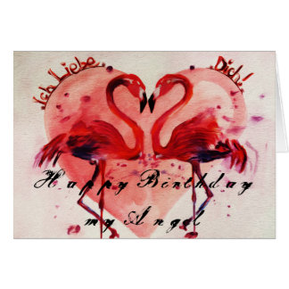 Happy Birthday flamingo 2 Grußkarte/greeting card