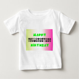 Happy Birthday Floral Baby T-Shirt