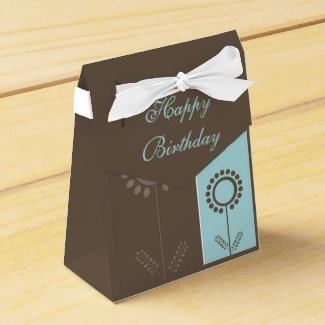 Happy Birthday Floral Beautiful Gift Bag Favor Box