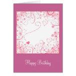 """Happy Birthday"" - floral design Card"