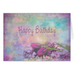 Happy Birthday - Floral Elegance Greeting Card