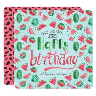 Happy Birthday Floral Flowers   Greeting card
