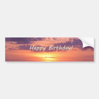 Happy Birthday Florida Beach Sunset Car Bumper Sticker