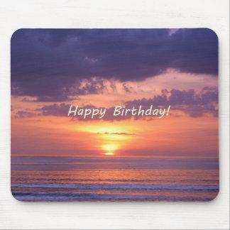 Happy Birthday Florida Beach Sunset Mouse Pad