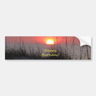 Happy Birthday Florida Sunset Bumper Sticker