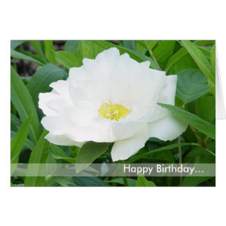 Happy Birthday Flower Card