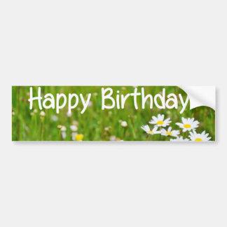 Happy Birthday flower card Daisy Bumper Sticker
