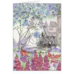 Happy Birthday Flower Card Zen Meditation