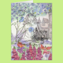 Happy Birthday Flower Card Zen Meditation