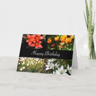 More Birthday Flower Cards