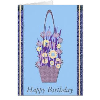 Happy Birthday Flowers Card