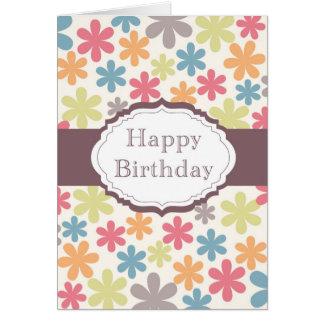 Happy Birthday (flowers) Greeting Card