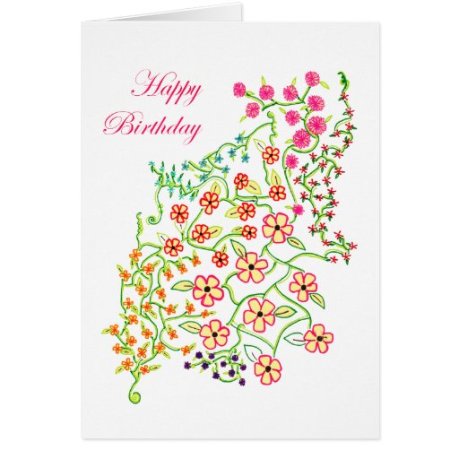 Happy Birthday Flowers Cards