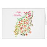 Happy Birthday Flowers Greeting Card